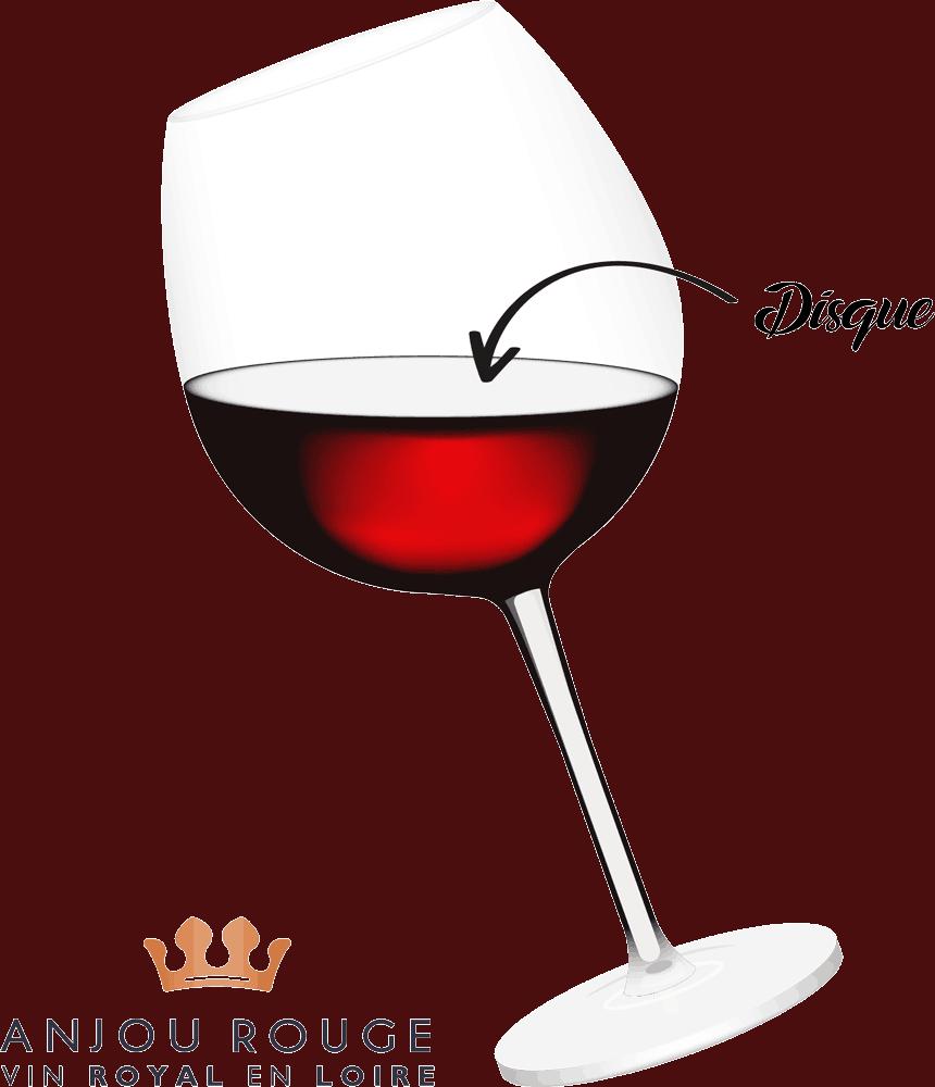 Disque vin - Anjou Rouge