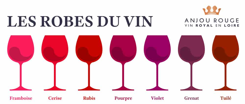 Robe vin rouge - Anjou Rouge